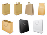 Set of vector paper bags