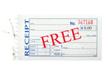 generic paper receipt with Free text poster