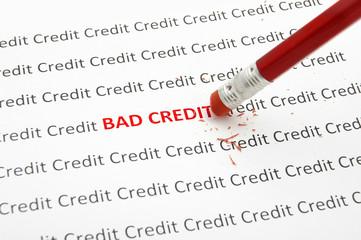 pencil eraser fixing bad credit