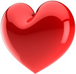 Red heart shape. I Love You symbol classic