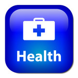 HEALTH Web Button (first aid pharmacy fitness lifestyle advice) poster