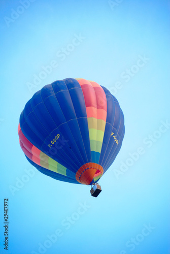 Blue Hot Air Balloon.