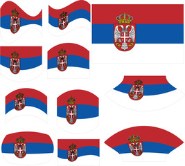 Serbian flag set