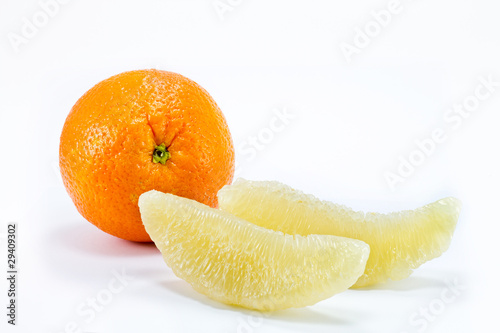 pomelo citrus isolated on white