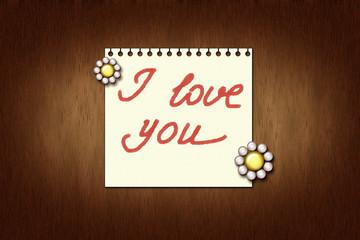 Признание в любви на бумажном листе