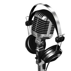 Microfono e cuffie