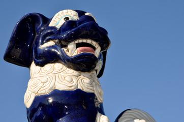 chiens fu lion chinois gardiens