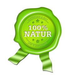 siegel 100% natur