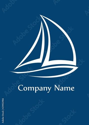 Fototapeta Yacht logo