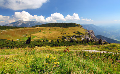 View at alpine mountain peaks - Raxalpe