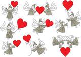 set valentine elves poster