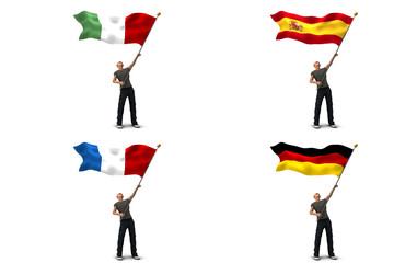 Bandiere italia francia spagna germania
