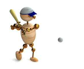 wood man baseball player