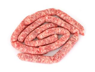 Pork Link Sausage Overhead View