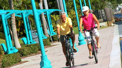 Healthy Seniors Cycling Exercise filmed at 60FPS