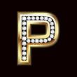 P bling letter