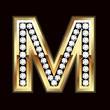 M bling letter