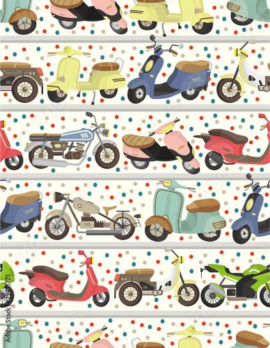 seamless motorcycle pattern - 29421771