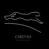Logo cheetah, speed # Vector