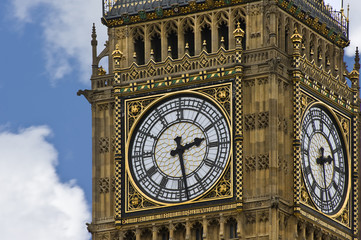 Big Ben, the most popular and iconic landmark in England