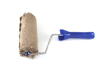Used paint roller