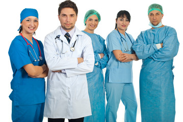 Two teams of doctors