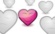 Valentine background with appreciable pink heart, vector