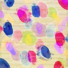 gemalte farbige farbtupfer auf leinwand