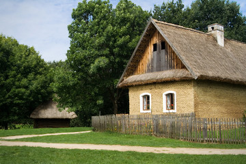 the house in old Moravian village