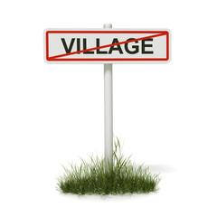 panneau sortie de village