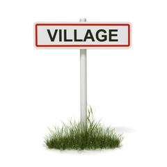 panneau entrée de village