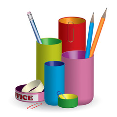 3D colorful pencil holder / organizer