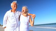 Mature Couple Enjoying the Beach filmed at 60FPS