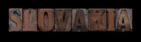 Slovakia in old wood type