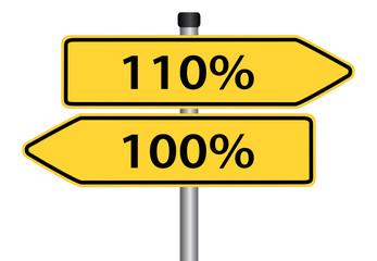 100 oder 110 Prozent geben