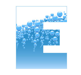 Bubbles and Water Isolated Alphabet Letter E bis