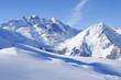 Leinwandbild Motiv Winterlandschaft in den Alpen