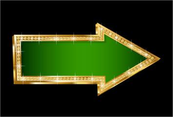 Vector gold brilliant arrow