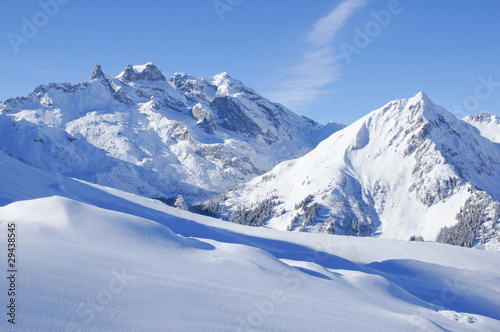 Winterlandschaft in den Alpen