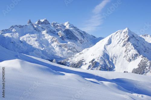 In de dag Alpen Winterlandschaft in den Alpen