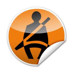 Pegatina cinturon seguridad con reborde