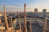 Fototapety Palazzo Reale di Milano visto dal Duomo - 2011
