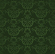 Dark green floral wallpaper - 29442781