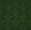 Dark green floral wallpaper