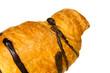 Croissant mit Schoko-Überzug , Freisteller