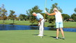 Healthy Seniors Playing Golfing filmed at 60FPS