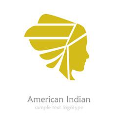 Logo American Indian # Vector