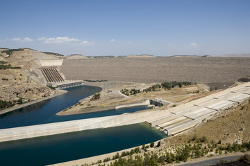 Anatolia - Ataturk Dam on the Euphrates River, Turkey