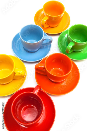 Kolorowe filiżanki