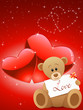 Valentinskarte mit Teddybär